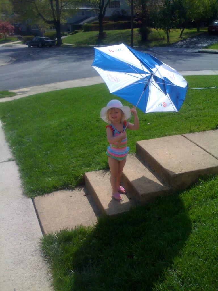Addison enjoying the sun.