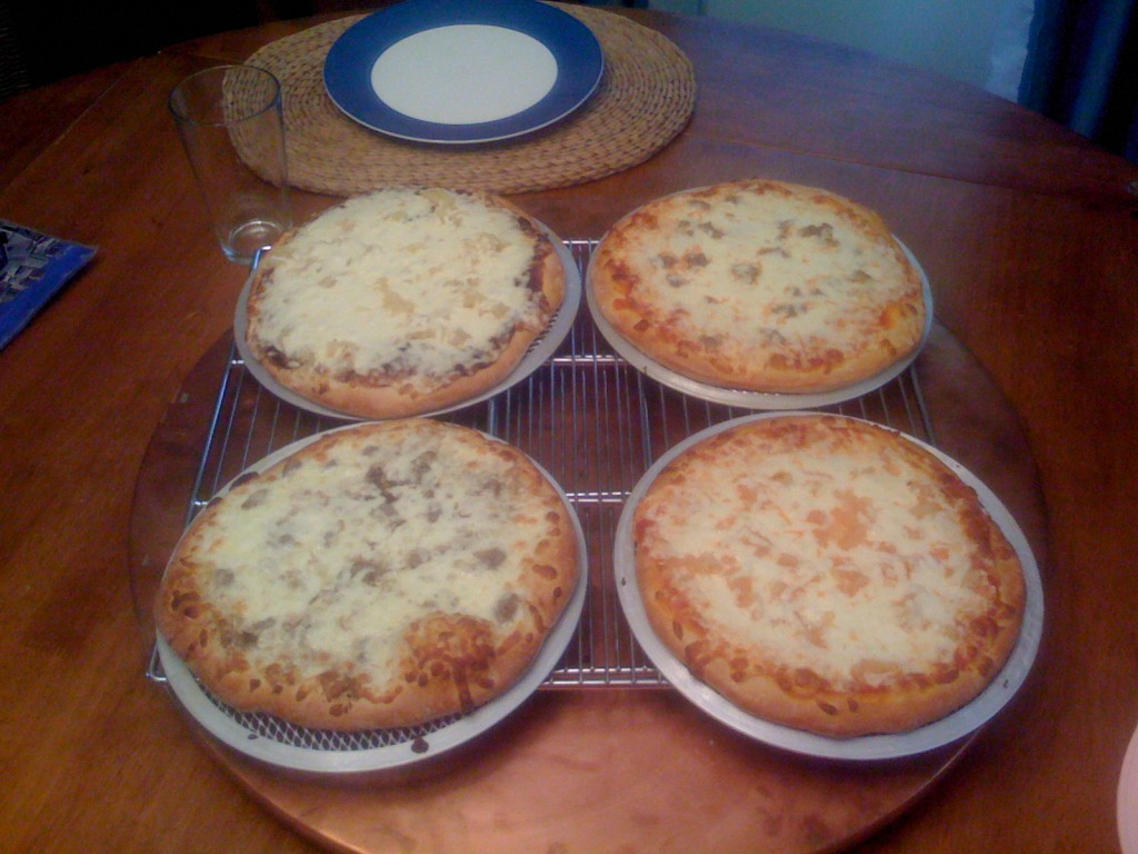 4 pizzas